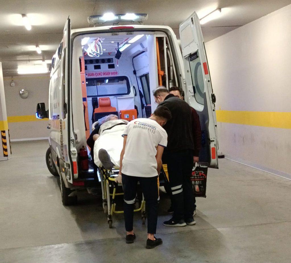 mavi ambulans hasta nakil