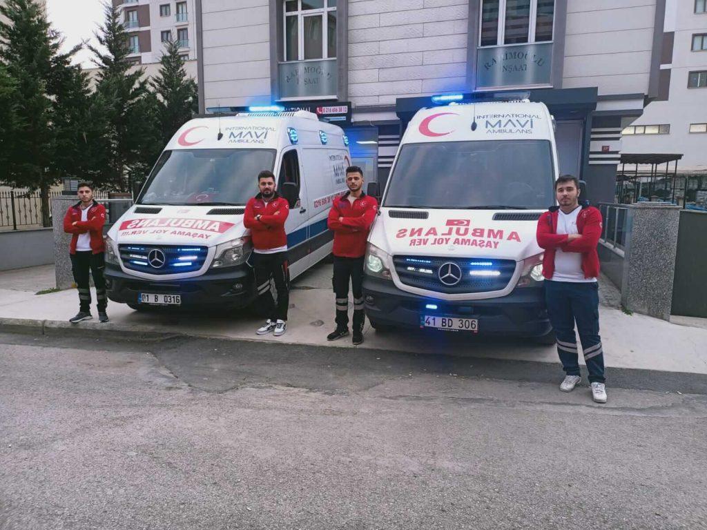 mavi ambulans pendik