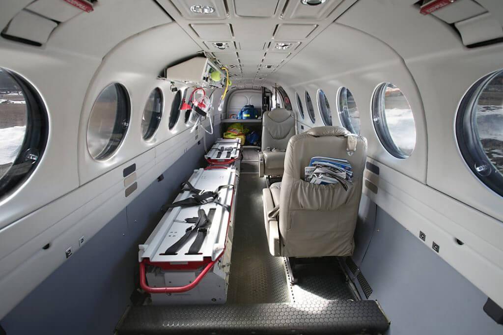 kiralanan uçak ambulans içi